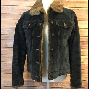 Wilson's Leather Suede fur lined jacket